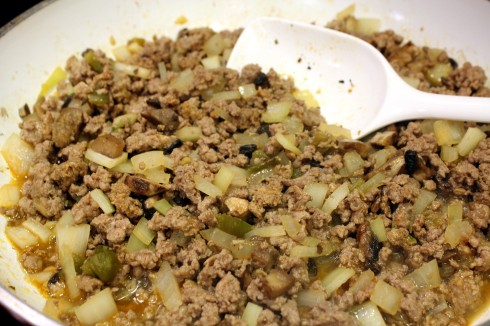Sausage, Beef and Veggie Mixture