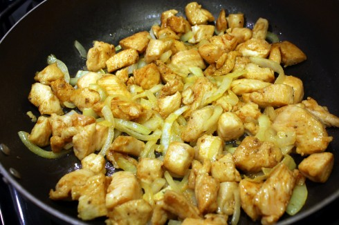 Chicken and Onions Browning