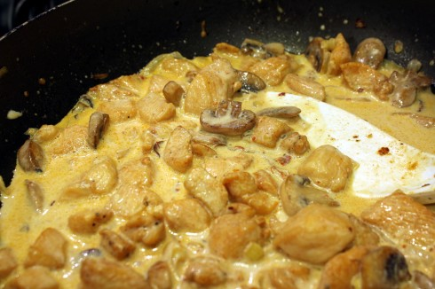 Creamy Spicy Chicken and Mushrooms