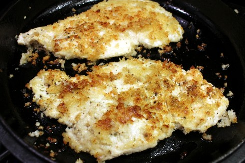 Pan-Seared Panko Parmesan Chicken