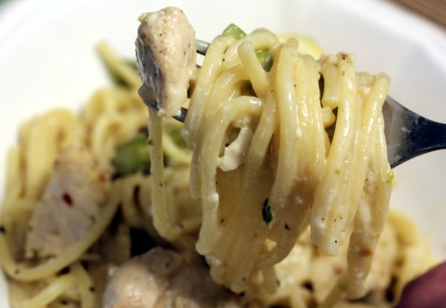 Chicken and Asparagus Pasta for Two
