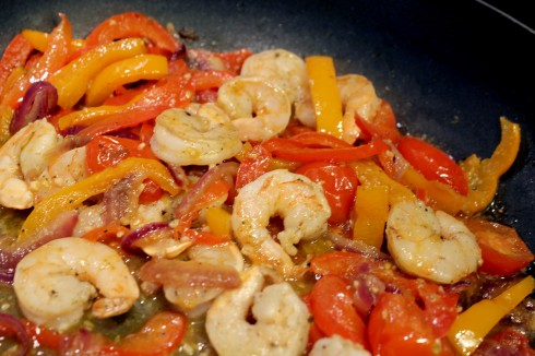 Shrimp and Pepper Sauce Ready for Pasta