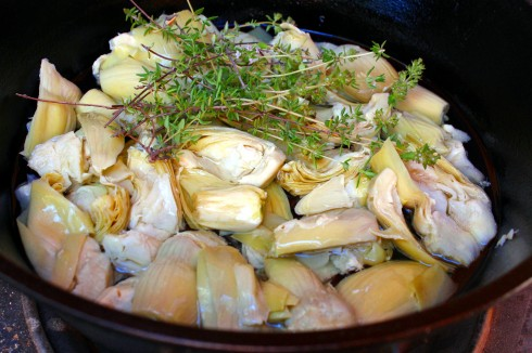 Artichokes and Thyme Ready to Fry
