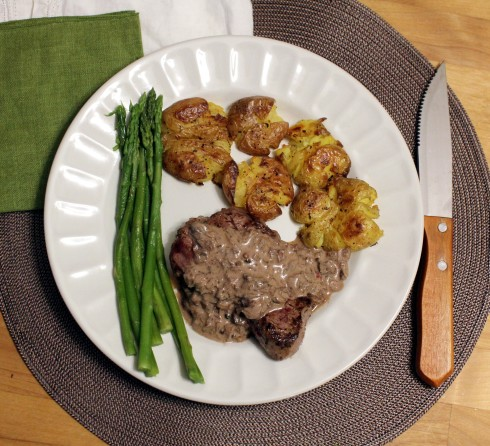 Beef Tenderloin with Porcini and Pepper Sauce