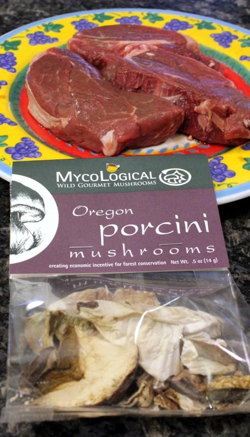 Beef Tenderloins and Oregon Porcini Mushrooms