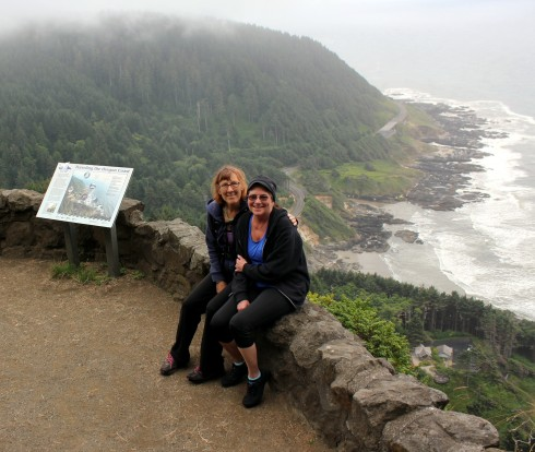 Me and Friend at top of Cape Perpetua