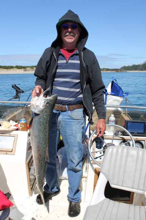 Paul and his 40-inch Chinook Salmon