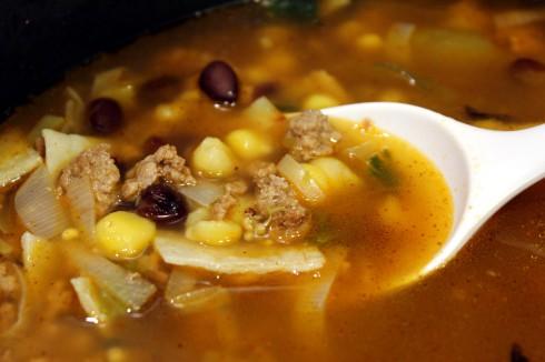Mexican Poblano Burger Soup