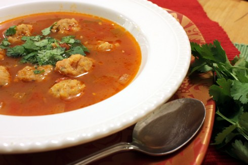 Mexican Shrimp Meatball Soup