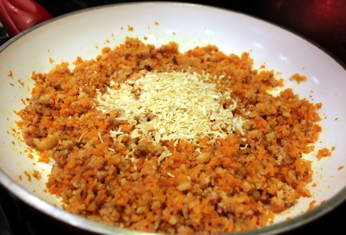 Dehydrated Onion Added to Mixture