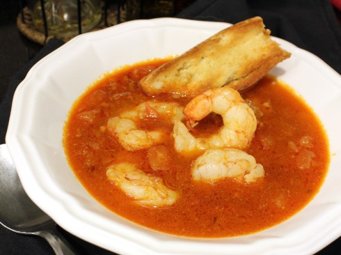 Shrimp and Chorizo Soup